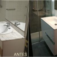 Cambio mueble de baño ROCA